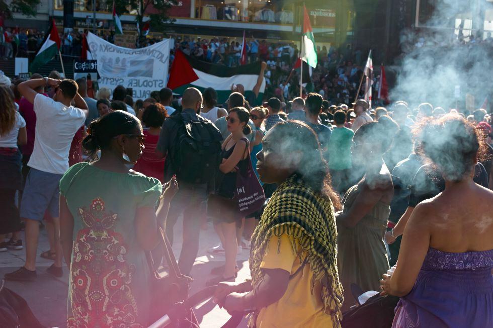 140723_L1005311 140723 Manifestation för Gaza