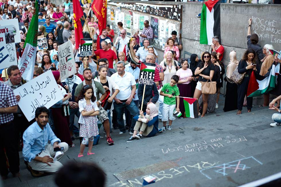 140723_L1005393 140723 Manifestation för Gaza